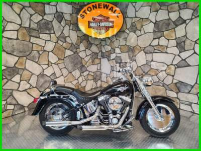 2002 Harley-Davidson FLSTF/FLSTFI Fat Boy Vivid Black for sale