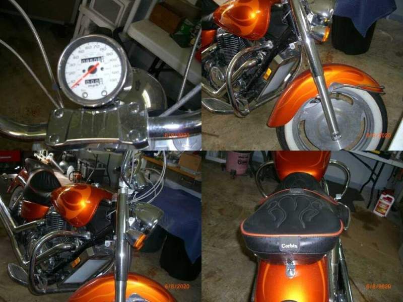 2002 Honda SHADOW SABRE 1100 Orange for sale craigslist