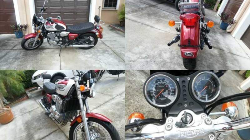 2002 Triumph Thunderbird 900 Red for sale craigslist photo