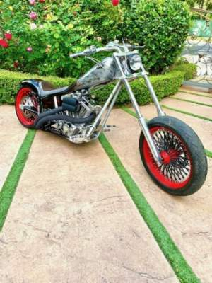 2003 American Ironhorse Texas Chopper Black, Silver, Flames for sale craigslist photo