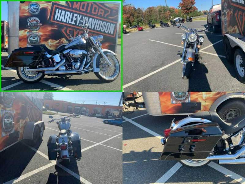 2003 Harley-Davidson FLSTC/FLSTCI Heritage Softail Classic Sterling Silver & Vivid Black Two-tone for sale