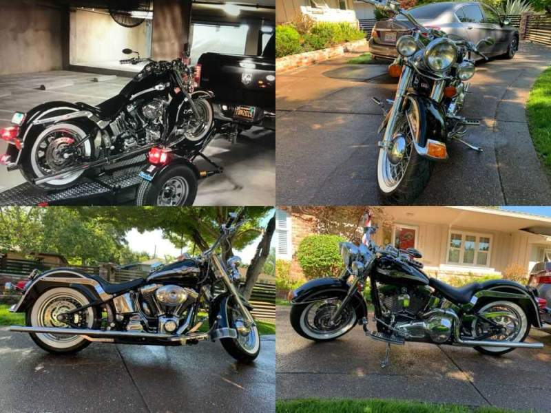 2003 Harley-Davidson Softail Black for sale craigslist photo