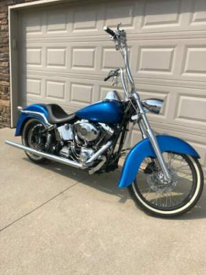 2003 Harley-Davidson Softail Blue for sale craigslist
