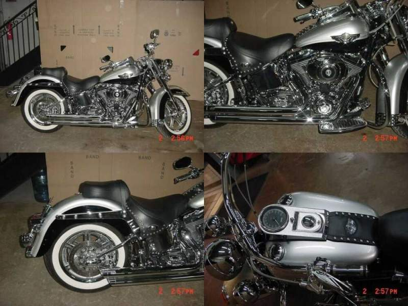 2003 Harley-Davidson Softail Silver - Black for sale craigslist photo