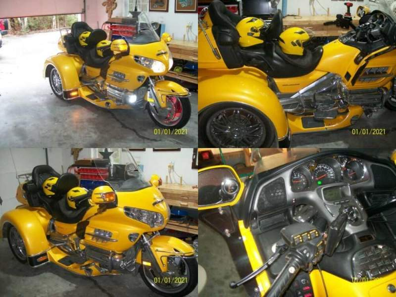 2003 Honda Gold Wing Yellow for sale craigslist photo