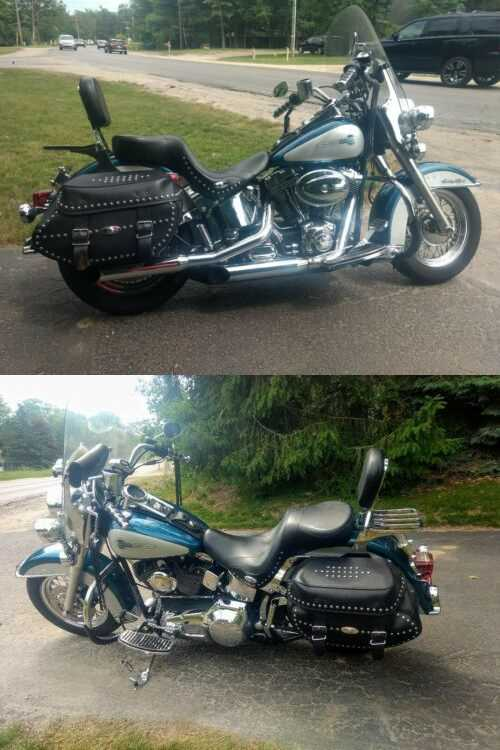 2004 Harley-Davidson Heritage Softail Deluxe Teal for sale craigslist photo