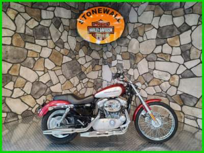 2004 Harley-Davidson Sportster XL 883 Custom Two-tone Sierra Red & Brilliant Silver for sale