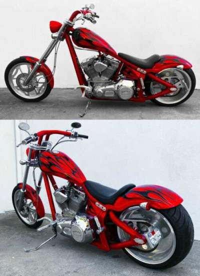 2005 Custom Built Motorcycles Chopper Red/ flames for sale craigslist photo