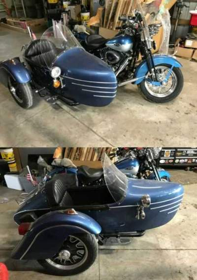 2005 Harley-Davidson Softail Blue for sale craigslist photo