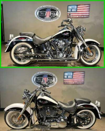 2005 Harley-Davidson Softail Softail® Deluxe Glacier White & Vivid Black for sale