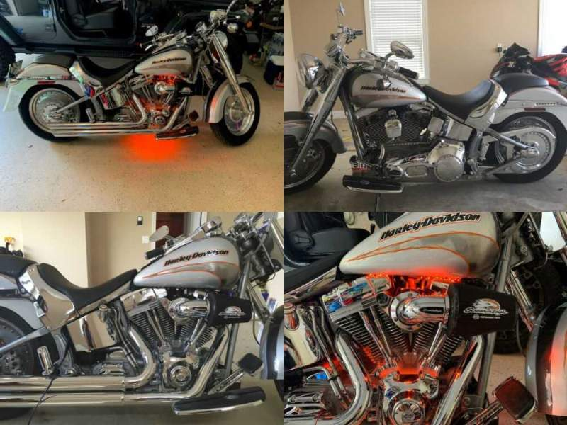 2005 Harley-Davidson Softail Silver for sale craigslist photo