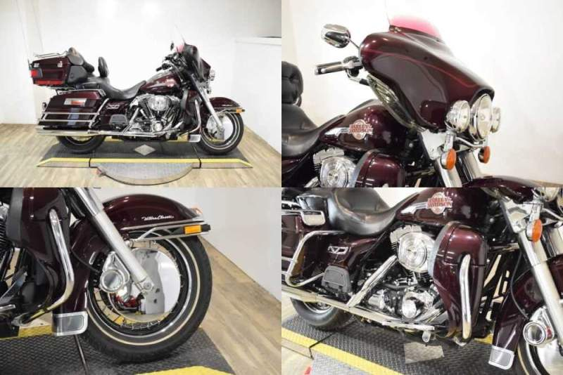 2005 Harley-Davidson Ultra Classic maroon for sale craigslist photo
