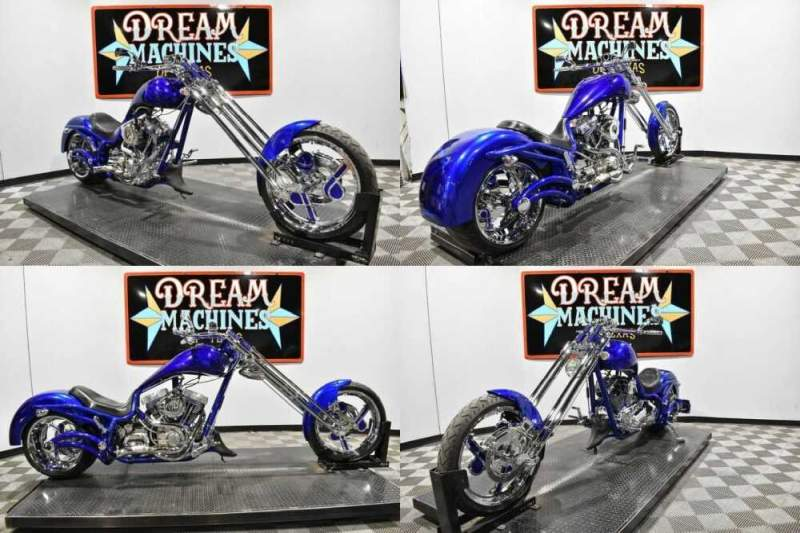 2006 Bourget Fat Daddy Springer Chopper Blue for sale craigslist photo