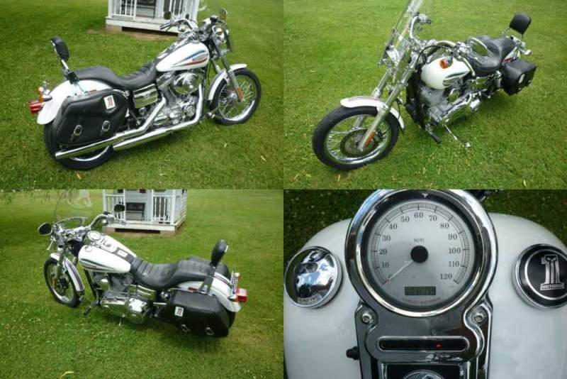 2006 Harley-Davidson Dyna White for sale craigslist photo
