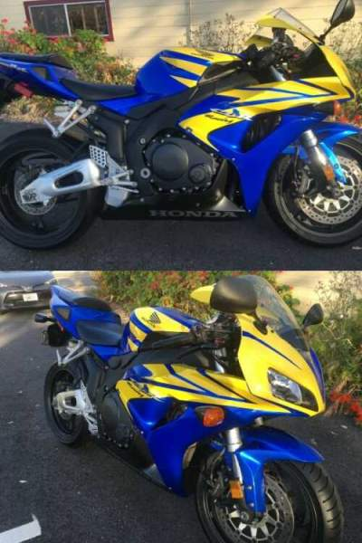 2006 Honda CBR Blue and Yellow for sale