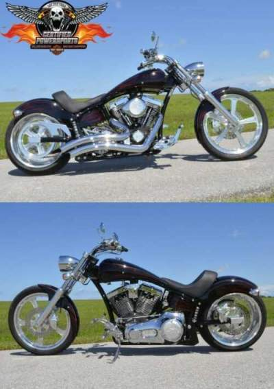 2007 American Ironhorse BANDERA SOFTAIL CHOPPER Excellent Condition! Vivid Black Paint W Hot Rod Flame Red Pinstripes for sale craigslist