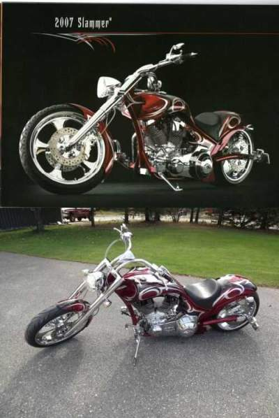 2007 American Ironhorse SLAMMER Red for sale craigslist photo