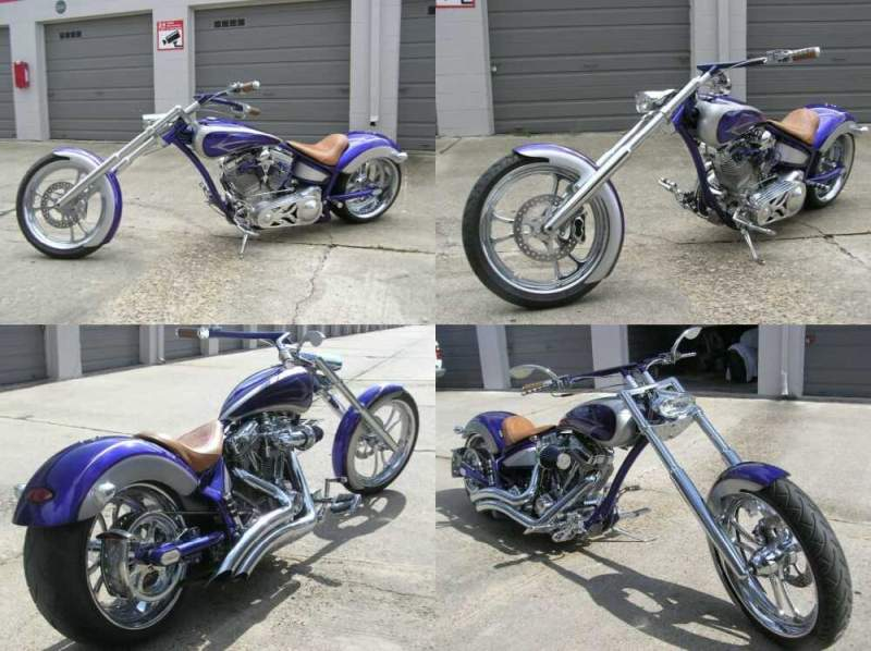 2007 Custom Built Motorcycles Pro Street Blue for sale craigslist photo