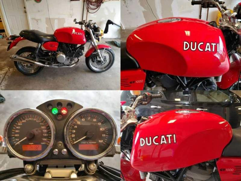2007 Ducati Sport Classic GT1000 Red for sale craigslist