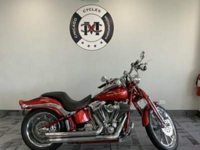 2007 Harley-Davidson CVO Softail Springer Red for sale craigslist photo