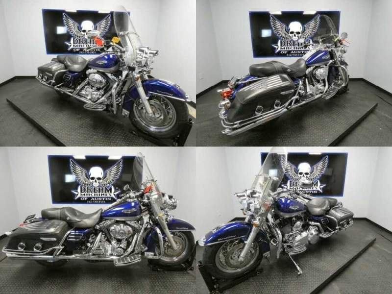 2007 Harley-Davidson FLHRC - Road King Classic Deep Cobalt Pearl/pewter Pearl for sale