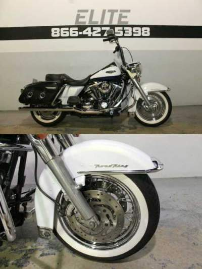 2007 Harley-Davidson Road King Classic White for sale craigslist photo