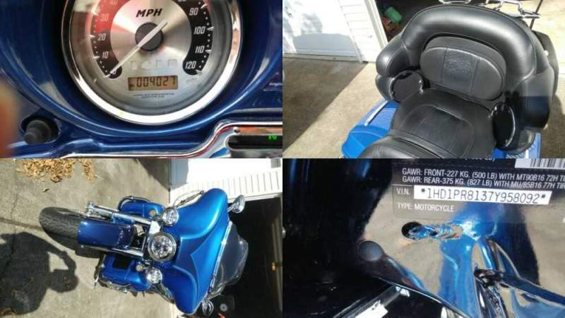 2007 Harley-Davidson Screaming Eagle CVO Blue for sale craigslist photo