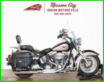2007 Harley-Davidson Softail FLSTC - Heritage Classic Black Cherry Pearl / Pewter Pearl for sale craigslist photo