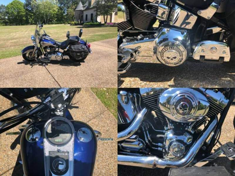 2007 Harley-Davidson Softail Blue for sale craigslist photo