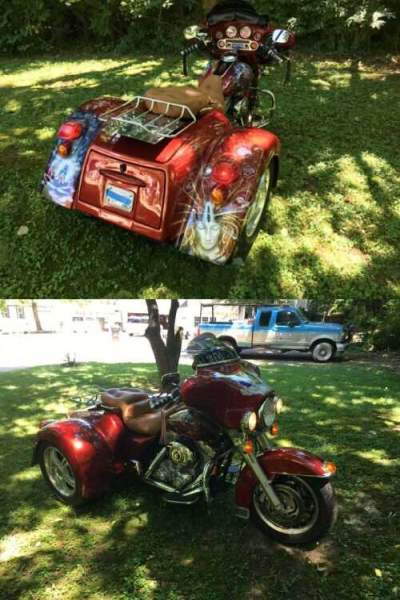 2007 Harley-Davidson Touring Red for sale craigslist photo