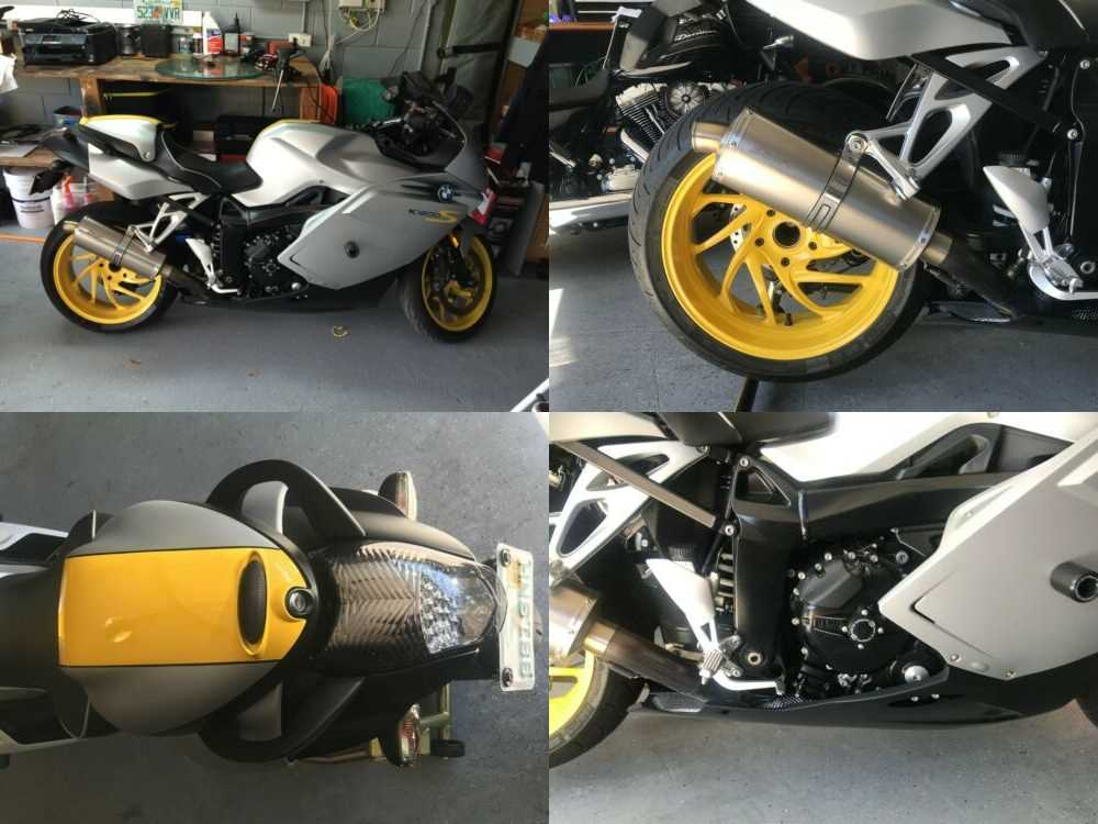 2008 BMW k1200s Silver/Yellow for sale