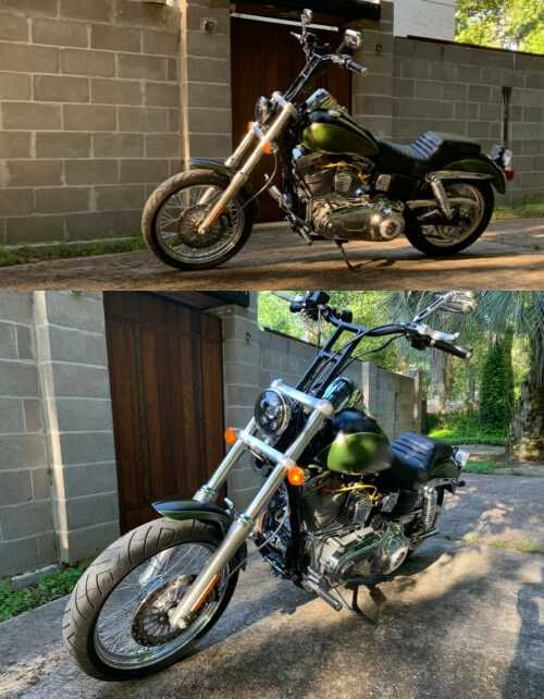 2008 Harley-Davidson Dyna Green for sale craigslist photo