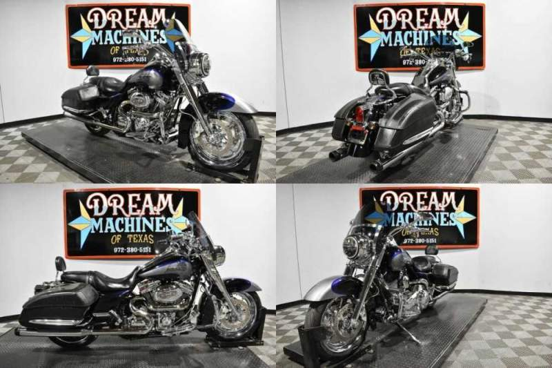 2008 Harley-Davidson FLHRSE4 - Screamin Eagle Road King CVO Blue for sale craigslist photo