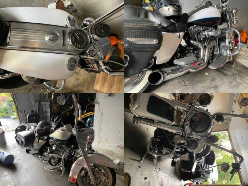 2008 Harley-Davidson Touring White for sale craigslist photo