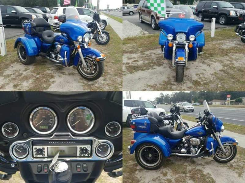 2008 Harley-Davidson Ultra Classic Blue for sale craigslist photo