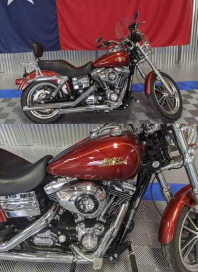 2009 Harley-Davidson Dyna Glide Low Rider Red for sale craigslist photo