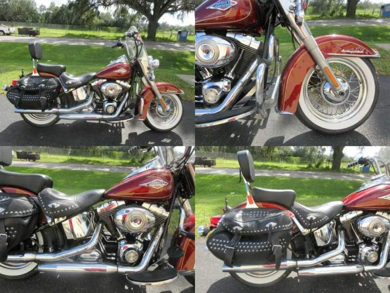 2009 Harley-Davidson Softail Heritage Softail® Classic Red for sale craigslist photo