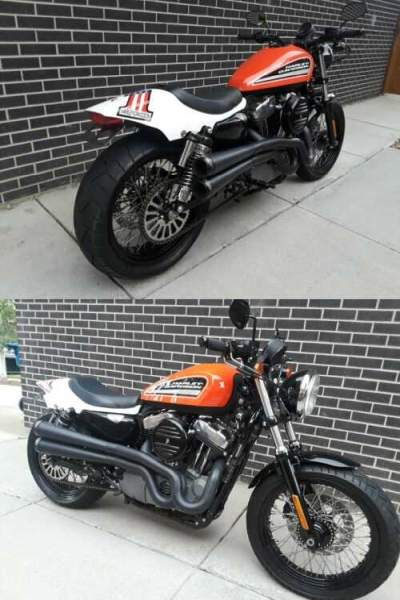 2009 Harley-Davidson Sportster Orange for sale craigslist photo