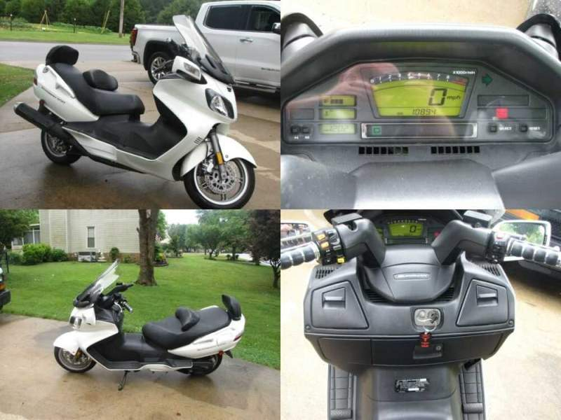 2009 Suzuki Burgman AN650 Pearl Mirage White Tricoat for sale