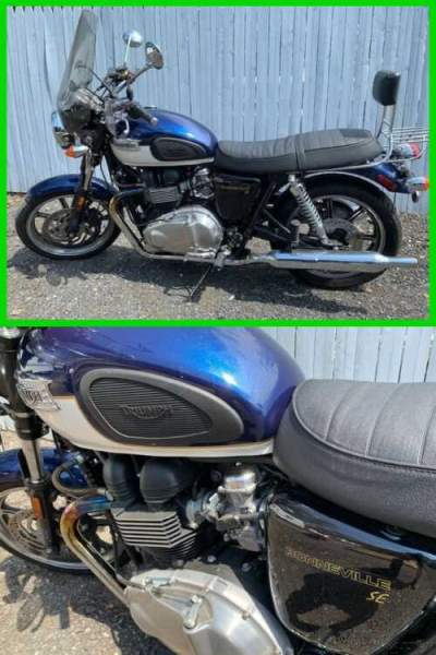 2009 Triumph Bonneville Blue for sale craigslist