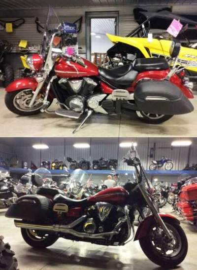 2009 Yamaha V Star 1300 Tourer Red for sale craigslist photo