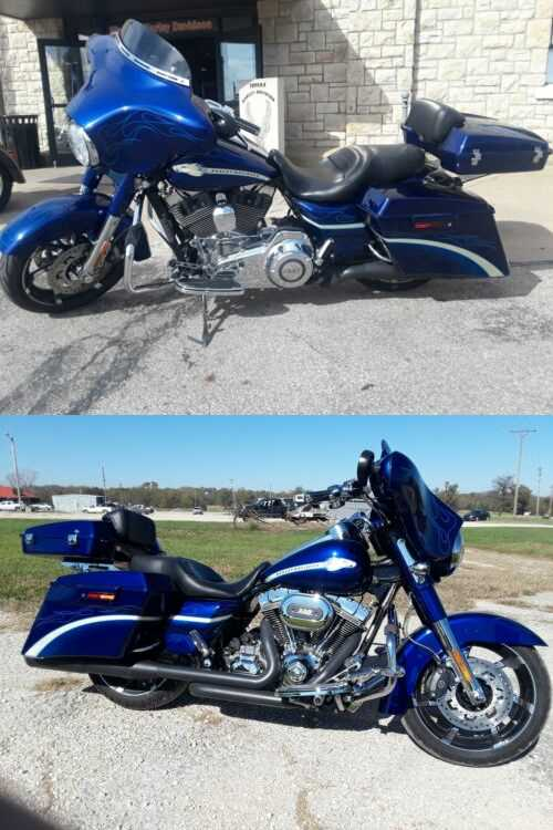 2010 Harley-Davidson Touring Candy Concorde Blue for sale craigslist photo