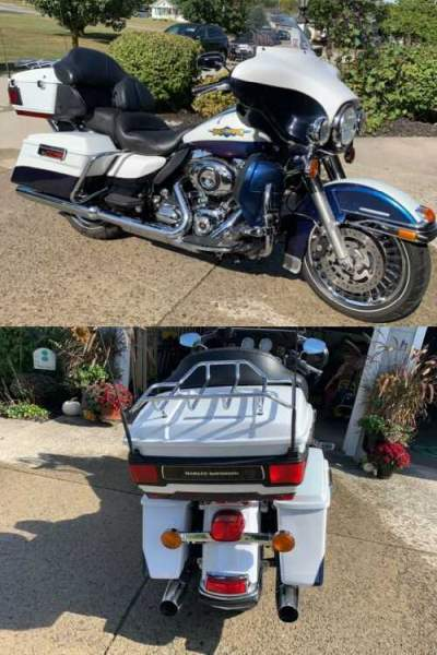 2010 Harley-Davidson Touring Pearl White-Black Ice Pearl for sale craigslist