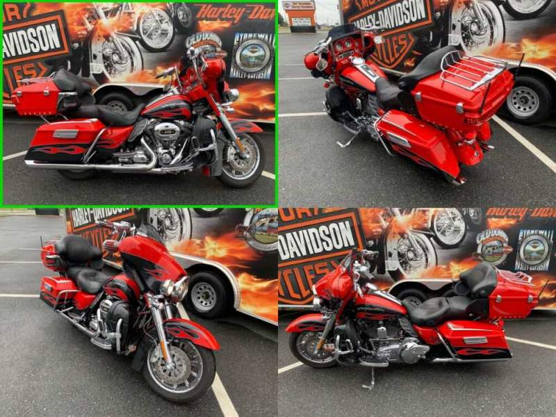 2010 Harley-Davidson Touring CVO Ultra Classic Electra Glide Scarlet Red Pearl / Dark Slate with Flame Graphics for sale craigslist photo