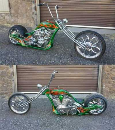 2011 Custom Built Motorcycles Chopper Green for sale craigslist photo