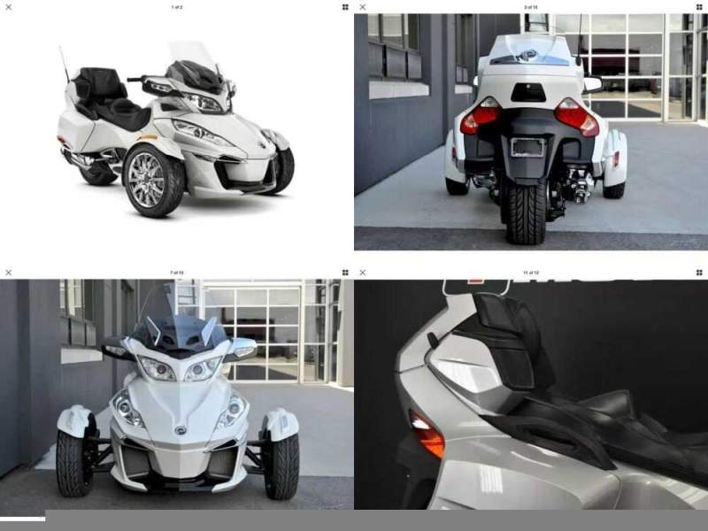 2012 Can-Am Spyder Roadster RT Pearl White for sale craigslist photo
