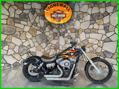 2012 Harley-Davidson Dyna Dyna Wide Glide Vivid Black with Flame Graphics for sale craigslist
