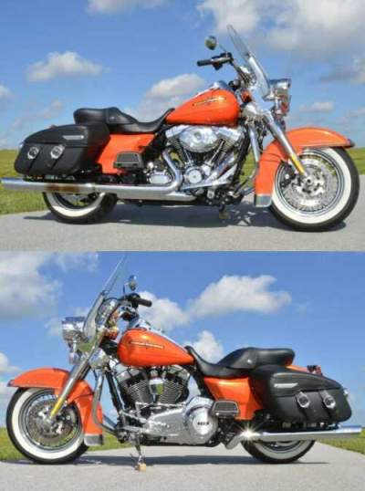 2012 Harley-Davidson ROAD KING CLASSIC, $3,500 In Extras! FLHRC Two Tone Tequila Sunrise and HD Orange Pearl Paint for sale