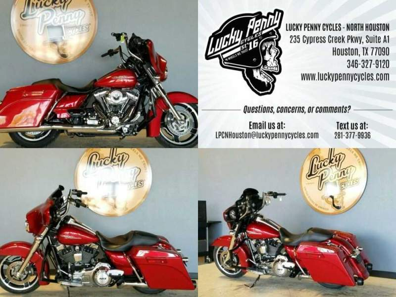 2012 Harley-Davidson Street Glide FLHX Red for sale craigslist photo