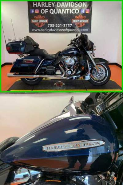 2012 Harley-Davidson Touring Electra Glide Ultra Limited Two-tone Big Blue Pearl / Vivid Black for sale craigslist